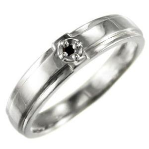 指輪 ブラックダイヤモンド(黒ダイヤ) クロス デザイン 一粒 10kホワイトゴールド 4月の誕生石|skybell