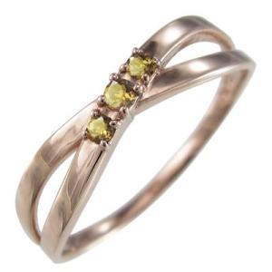 (黄水晶)シトリン 指輪 デザイ...
