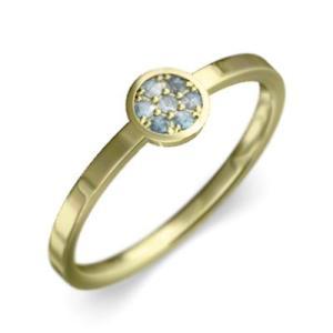 k18イエローゴールド 指輪 3月の誕生石 アクアマリン|skybell