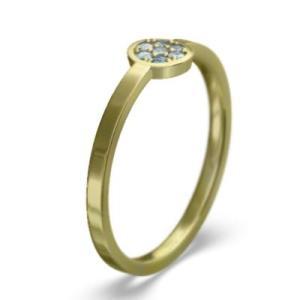 k18イエローゴールド 指輪 3月の誕生石 アクアマリン|skybell|03