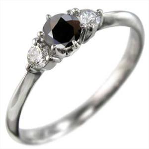 プラチナ900 リング ブラックダイヤ(黒ダイヤ) 天然ダイヤモンド|skybell