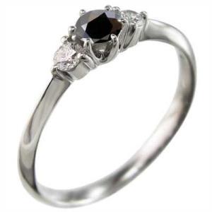 指輪 ブラックダイア 天然ダイヤモンド Pt900 4月の誕生石|skybell|04