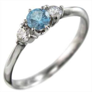 プラチナ900 指輪 ブルートパーズ 天然ダイヤモンド|skybell