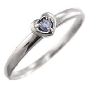 指輪 タンザナイト スイート ハート 1粒 石 プラチナ900 12月誕生石|skybell
