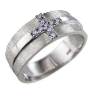 指輪 タンザナイト クロス デザ...