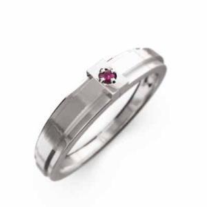 指輪 1粒 石 クロス ジュエリー ルビー 7月誕生石 ホワイトゴールドk10|skybell