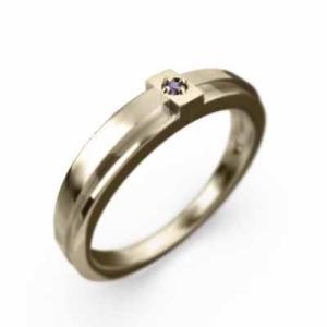 指輪 クロス ジュエリー 1粒 石 アメジスト K10 2月誕生石|skybell