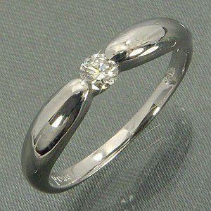 指輪 一粒 ダイヤモンド 4月誕生石 プラチナ900 ふっくらフォルム skybell