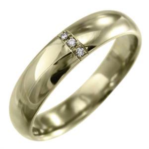 甲丸リング ダイヤモンド 10kイエローゴールド 約5mm幅|skybell