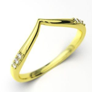 天然ダイヤ・k10イエローゴールド・約0.06ct・指輪|skybell