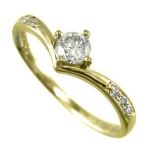 リング 婚約指輪 18金イエローゴールド ダイアモンド 4月誕生石|skybell