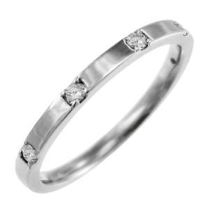 マリッジリングにも ファイブ ストーン ダイヤモンド 4月誕生石 白金(プラチナ)900|skybell