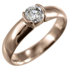 指輪 オーダーメイド ブライダル にも ダイアモンド 一粒 k10ピンクゴールド 4月誕生石 skybell