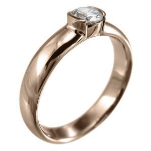 指輪 オーダーメイド ブライダル にも ダイアモンド 一粒 k10ピンクゴールド 4月誕生石 skybell 04