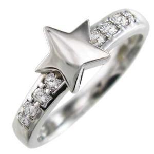 ダイヤモンド リング スター ジュエリー 18kホワイトゴールド 4月誕生石|skybell|03