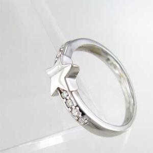 ダイヤモンド リング スター ジュエリー 18kホワイトゴールド 4月誕生石|skybell|04