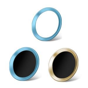 3枚セット iPhoneホームボタンシール TouchID 指紋認証可能 アイフォンボタン ブルー系 保護シール 取付簡単|skybird