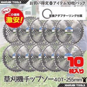草刈機の交換用チップソー10枚セット(255mm - 40T)|skybreath