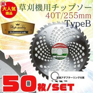 草刈機の交換用チップソー50枚セット(255mm - 40T)TypeB|skybreath