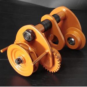 ★商品説明★ ギヤードトロリー(鎖動トロリ)はH鋼に設置し、チェーンホイストやウインチと組み合わせる...