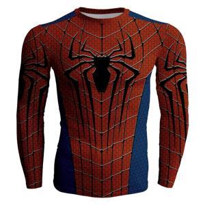 商品名:スパイダーマンTシャツ 速乾 スポーツ tシャツ   サイズ表(単位cm)伸縮性あり 【S】...