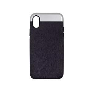 【BlueSea】 iPhone X 専用 全面保護 耐衝撃 レザー ケース パープル 6628-002Purple|skygarden