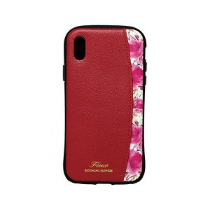 iPhoneX(5.8インチ)専用プロテクターポケットケース FLEUR WINE RED  衝撃吸収 耐衝撃 カードポケット付き iP8-FLEP|skygarden