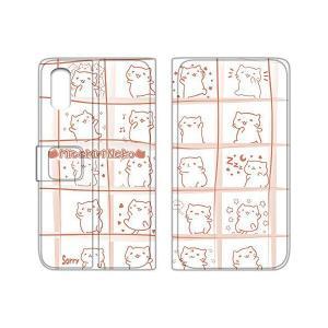 みっちりねこ iPhoneX ケース 手帳型 薄型プリント手帳 みっちり構わぬE (mt-010) WN-LC213269|skygarden