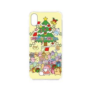 みっちりねこ iPhoneX スマホケース クリア プリント クリスマスツリーB (mt-022) ハード 全機種対応 wn-0817947-wy|skygarden