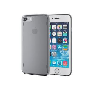 エレコム iPhone7ケース [iPhone8対応] シェルカバー AQUA クリア ブラック PM-A16MAQBK|skygarden