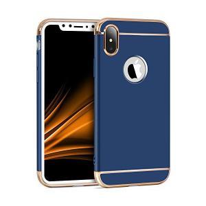 IMIKOKO iPhone X ケース メッキ加工 軽量 衝撃防止 3パーツ式 ワイヤレス充電対応 アイフォンXケース 高級感 薄型 携帯カバー|skygarden