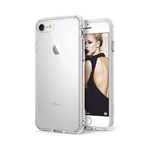 Ringke iPhone 8 ケース, [FUSION] [落下防止 衝撃吸収 ストラップホール] PCバック TPUフレーム アイフォン8 用|skygarden