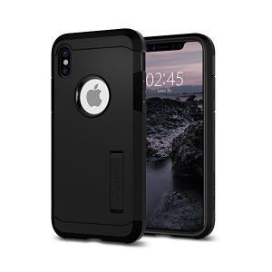【Spigen】 iPhone X ケース, [ 米軍MIL規格取得 Qi 充電 対応 衝撃吸収 スタンド機能 ] タフ・アーマー アイフォン X|skygarden
