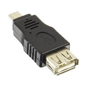変換名人 スマートフォン 変換アダプタ USB A メス - microB オス USBAB-MCA|skygarden