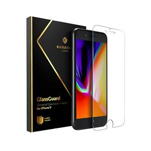 Anker KARAPAX GlassGuard iPhone 8/7 用 強化ガラス液晶保護フィル...