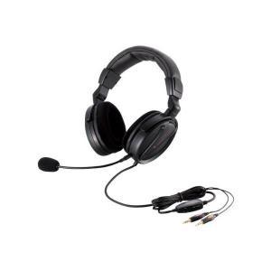 【2011年モデル】ELECOM ヘッドセットマイクロフォン 両耳オーバーヘッド 1.8m ゲーマー向け ブラック HS-HP13BK skygarden