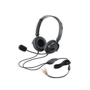 エレコム ヘッドセット マイク 両耳 オーバーヘッド 1.8m 折り畳み式 40mmドライバ ブラック HS-HP20BK skygarden