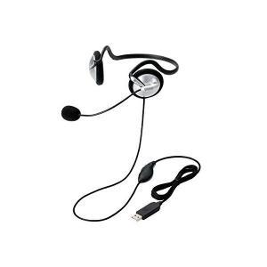 エレコム ヘッドセット マイク PS4対応 USB 両耳 ネックバンド 1.8m HS-NB05USV skygarden