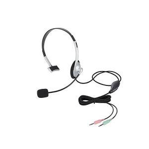 エレコム ヘッドセット マイク 片耳オーバーヘッド 1.8m HS-HP21SV skygarden