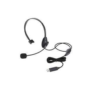 エレコム ヘッドセット マイク PS4対応 USB 片耳 オーバーヘッド 1.8m HS-HP21UBK skygarden