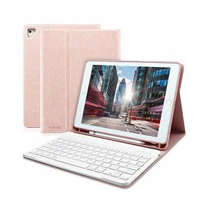 ipad 9.7 キーボードカバー Apple pencil 収納 ペンシルホルダー付き ワイヤレスキーボードケース 手帳型 ビジネスカバー 一体型 skygarden