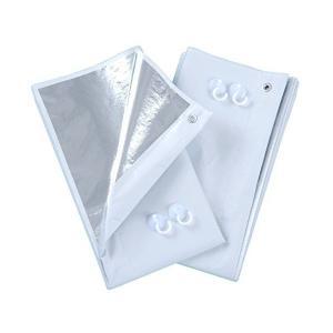 ■正規品■『遮光率約99.9%簡単取り付けで省エネ対策!』アルミ断熱・遮光カーテン◆2枚組◆|skygarden