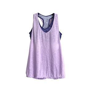[necker] ヨガウェア ブラトップ カップ付き タンクトップ トップス 速乾 伸縮 (M, 紫)|skygarden