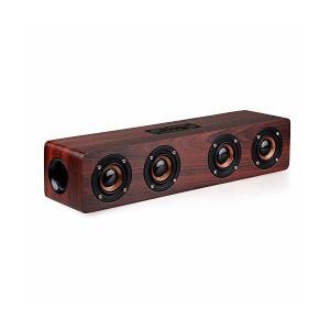 Bluetoothスピーカー PC サウンドバー 木製 マイク内蔵 ワイヤレス 12W 2.0ch テレビ TV/PC対応 Soundbar Spe|skygarden