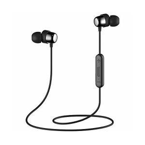 Bluetooth V4.2 スポーツイヤホン ヘッドホン ネックレス型/ネックバンド型 マグネット...