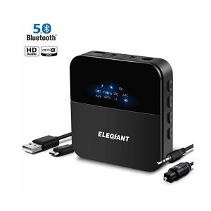 Bluetooth 5.0トランスミッター レシーバー ELEGIANT Bluetooth ブルートゥース オーディオレシーバー 一台二役 送信受|skygarden
