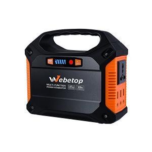 Webetop 155Whポータブル電源 42000mAh 予備電源 AC100W DC USB出力...