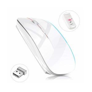 ワイヤレスマウス 超薄型 静音 無線 マウス 省エネルギー 2.4GHz 3DPIモード 高精度 持...