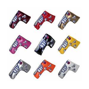高級pu革 スコッティーキャメロン オデッセイに適合パターカバー 磁石タイプ開閉 GoodJob刺繍 ピンタイプ (イエロー)|skygarden