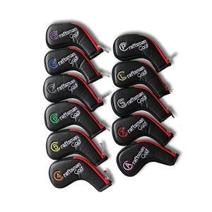 CRAFTSMAN(クラフトマン)ゴルフアイアンカバー ヘッドカバー ロングネック ファスナー開閉 11枚入り(49、P、A、S、L、X)カラフル|skygarden